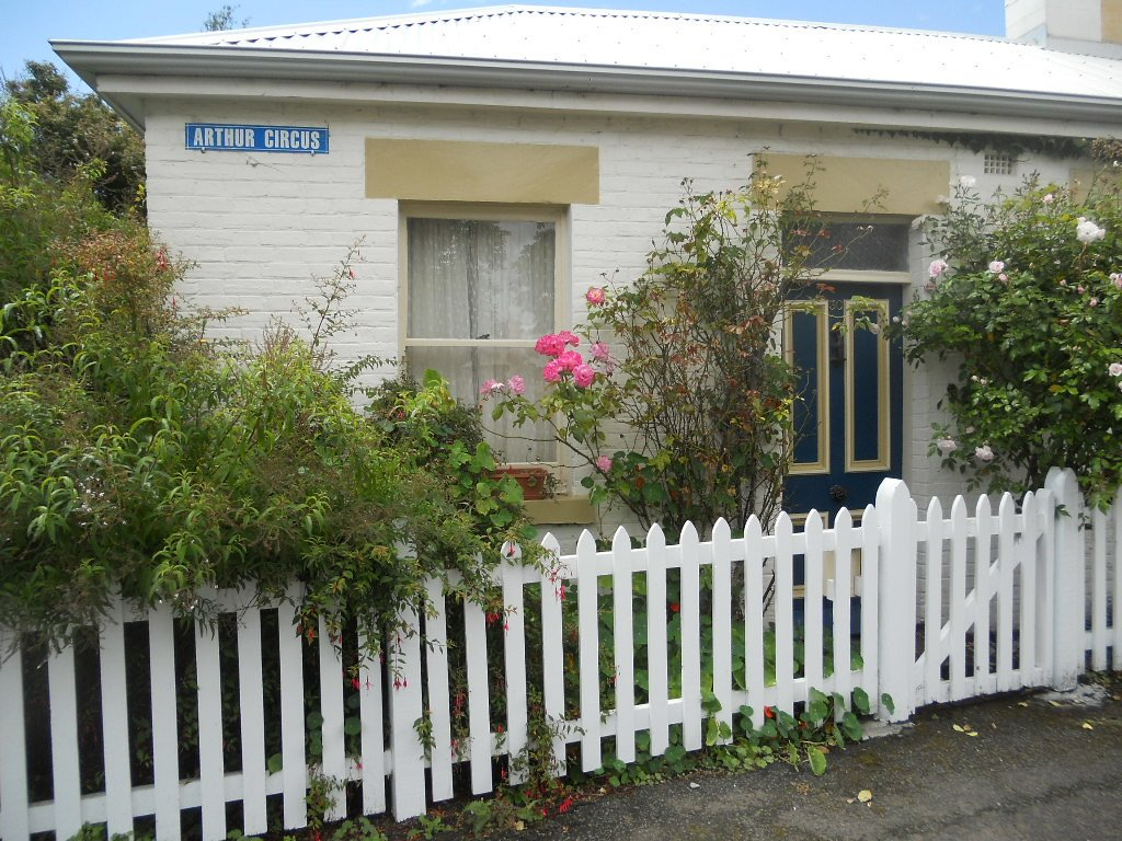 Historical cottage in the Battery Point area of Hobart, Tasmania