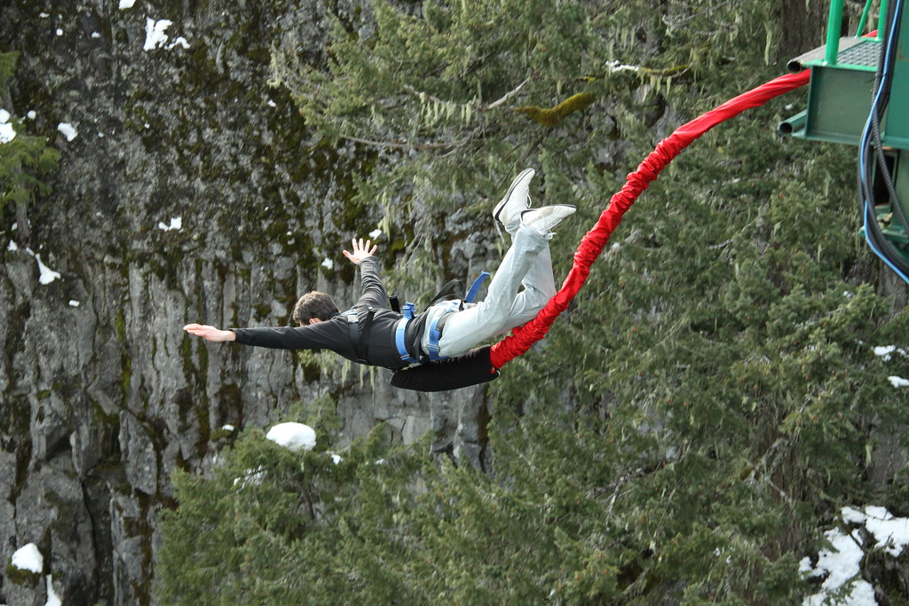 Bungee jumping near Whistler along the Sea to Sky Highway