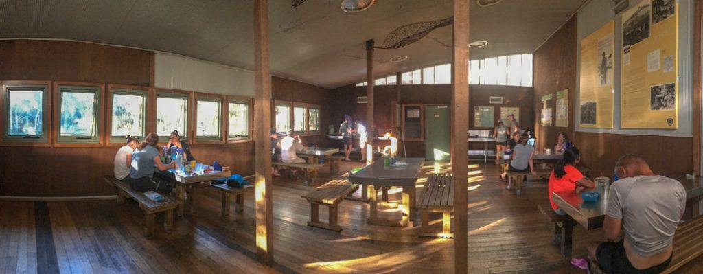 The interior of Bert Nichols Hut at Windy Ridge. One of the Overland Track huts that self-guided walkers can stay in.