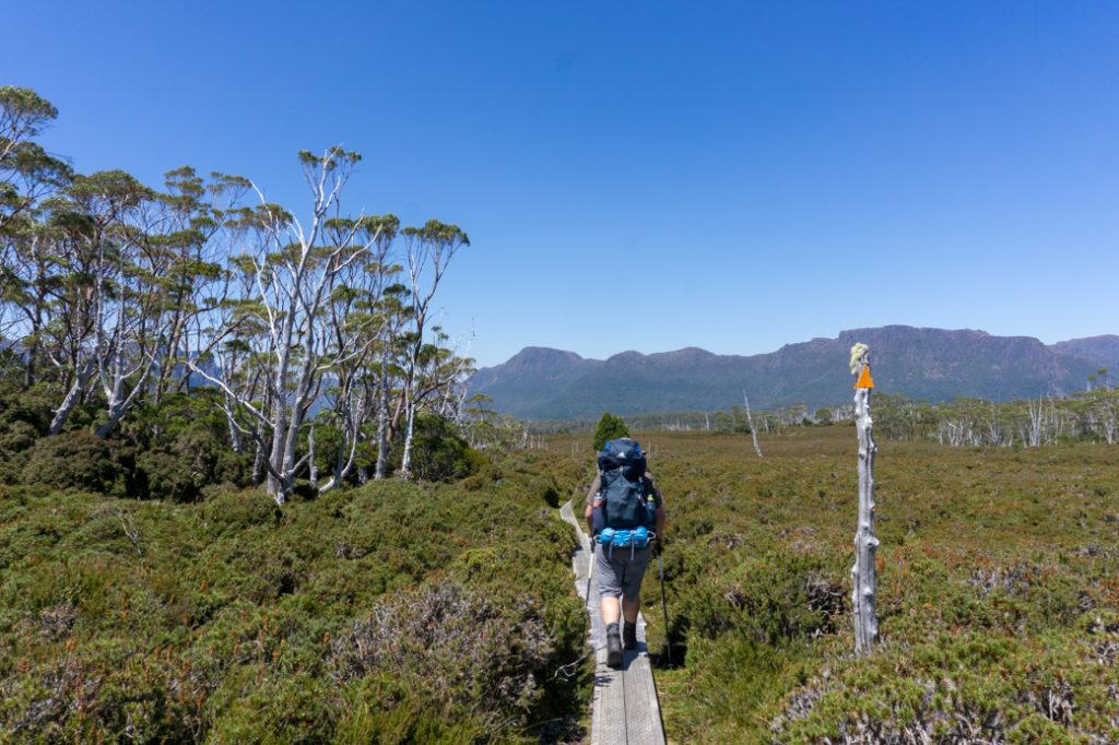 Walking the Overland Track in Tasmania with the Gregory Stout backpack. Find out what to bring with this Overland Track packing list.