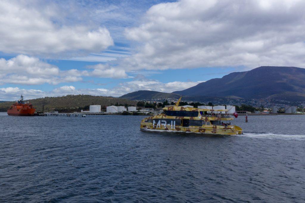The MONA ferry in Hobart, Tasmania