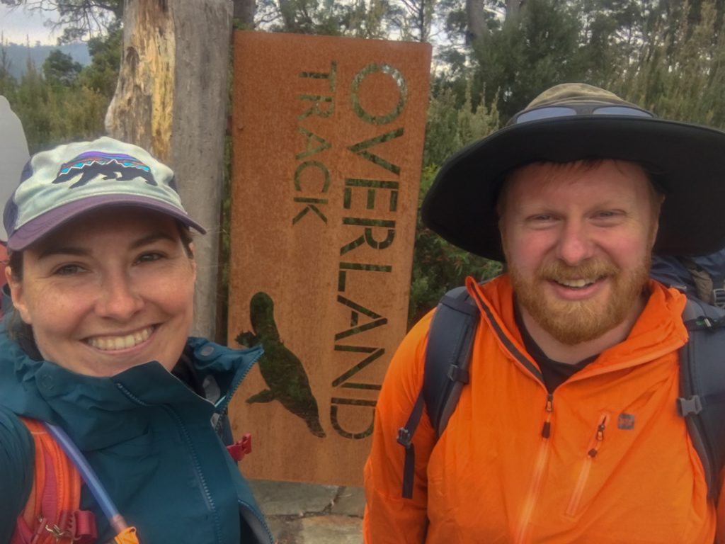 The sign at the end of the Overland Track at Cynthia Bay on Lake St Clair