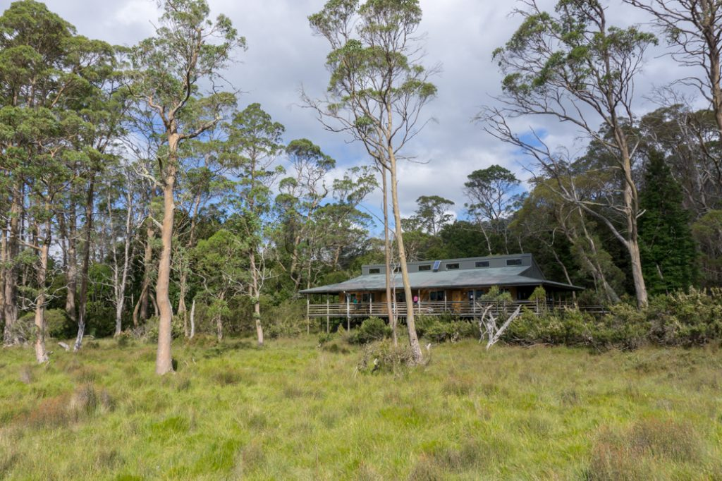 New Pelion Hut. One of the Overland Track huts that self-guided walkers can stay in.