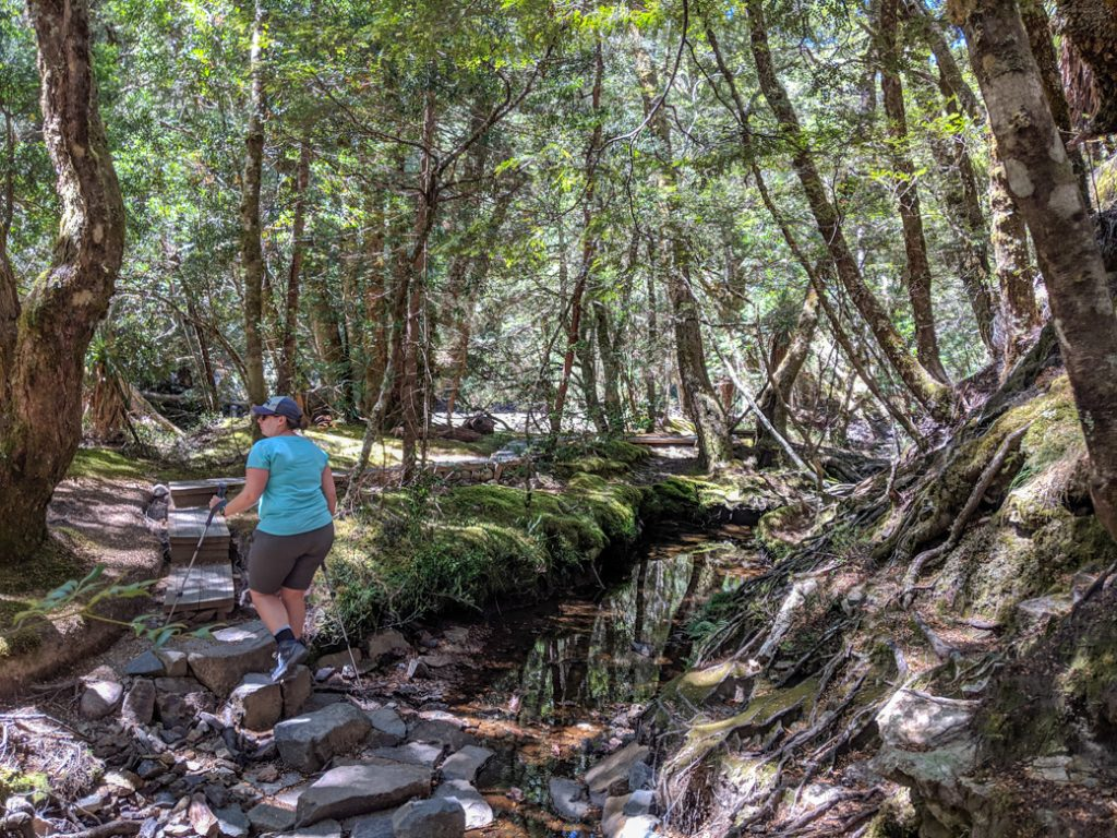 Good hiking boots are important on the Overland Track