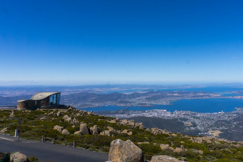 The view from the summit of kunanyi/Mount Wellington in Hobart, Tasmania