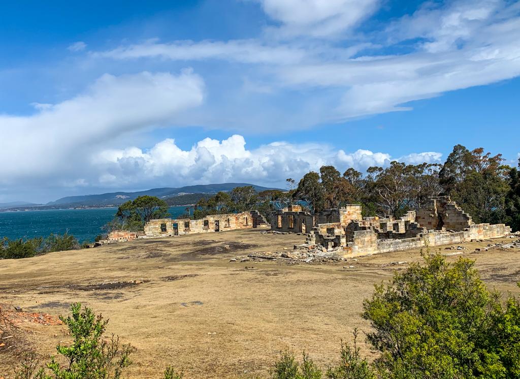 Prison ruins at the Coal Mines Historic Site near Port Arthur, Tasmania