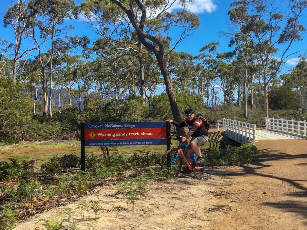 Biking on Maria Island, Tasmania