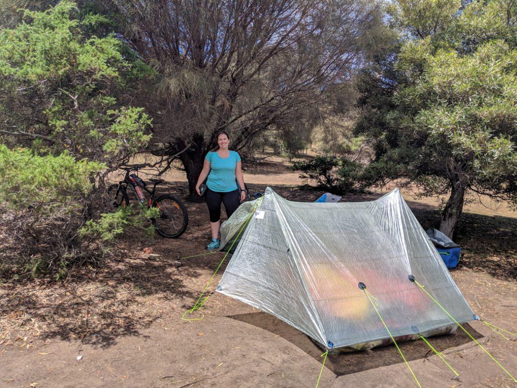 Camping on Maria Island in Tasmania, Australia
