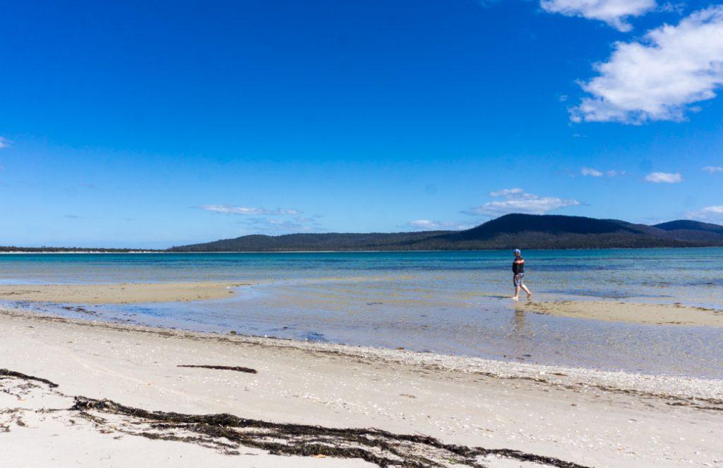 Shoal Bay on Maria Island, Tasmania