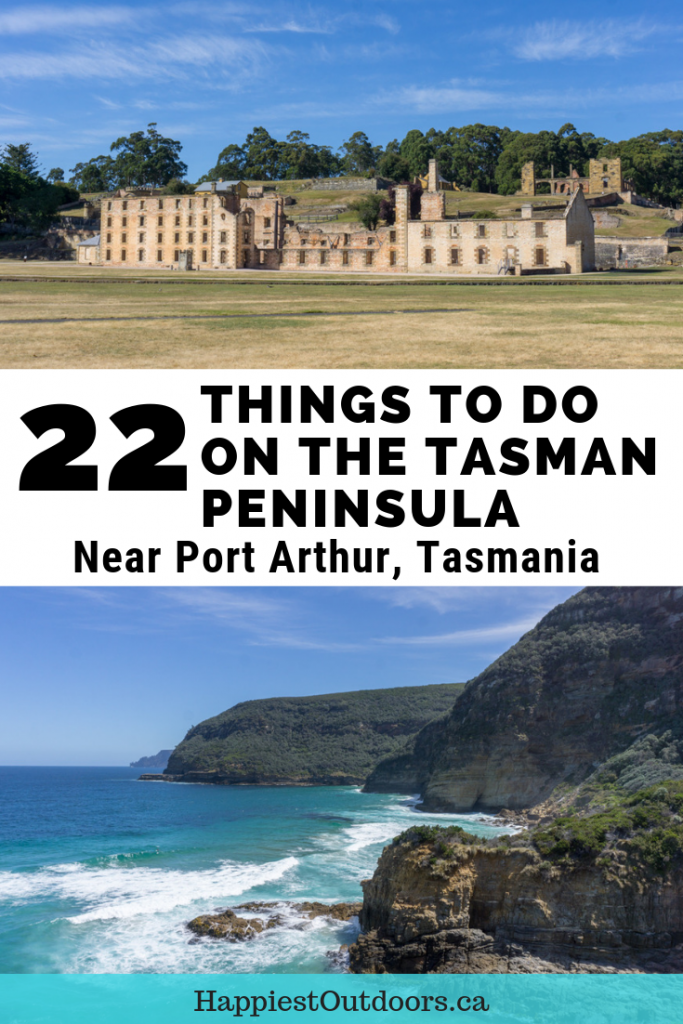 Things to do on the Tasman Peninsula near Port Arthur, Tasmania, Australia. A big list of the best Tasman Peninsula attractions including hiking, viewpoints, food, historical sites and more. #PortArthur #Tasmania #Australia #TasmanPeninsula