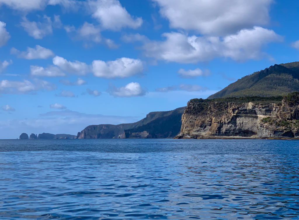 Sea cliffs on the Tasman Peninsula near Port Arthur, Tasmania