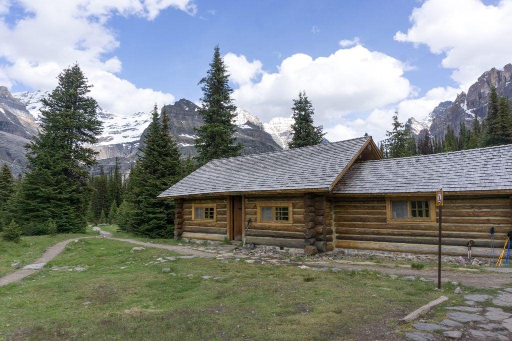 The Alpine Club of Canada's Elizabeth Parker Hut at Lake O'Hara in Yoho National Park