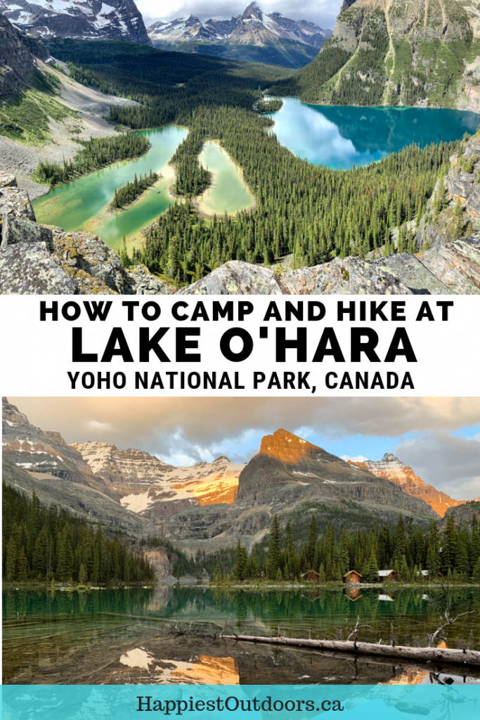 How to camp and hike at Lake O'Hara in Yoho National Park, Canada. Includes info on the Lake O'Hara bus, including how to book it, camping at Lake O'Hara and all the best hikes including the Lake O'Hara Alpine Circuit. #LakeOHara #YohoNationalPark #CanadianRockies #BritishColumbia #Canada #hiking #camping
