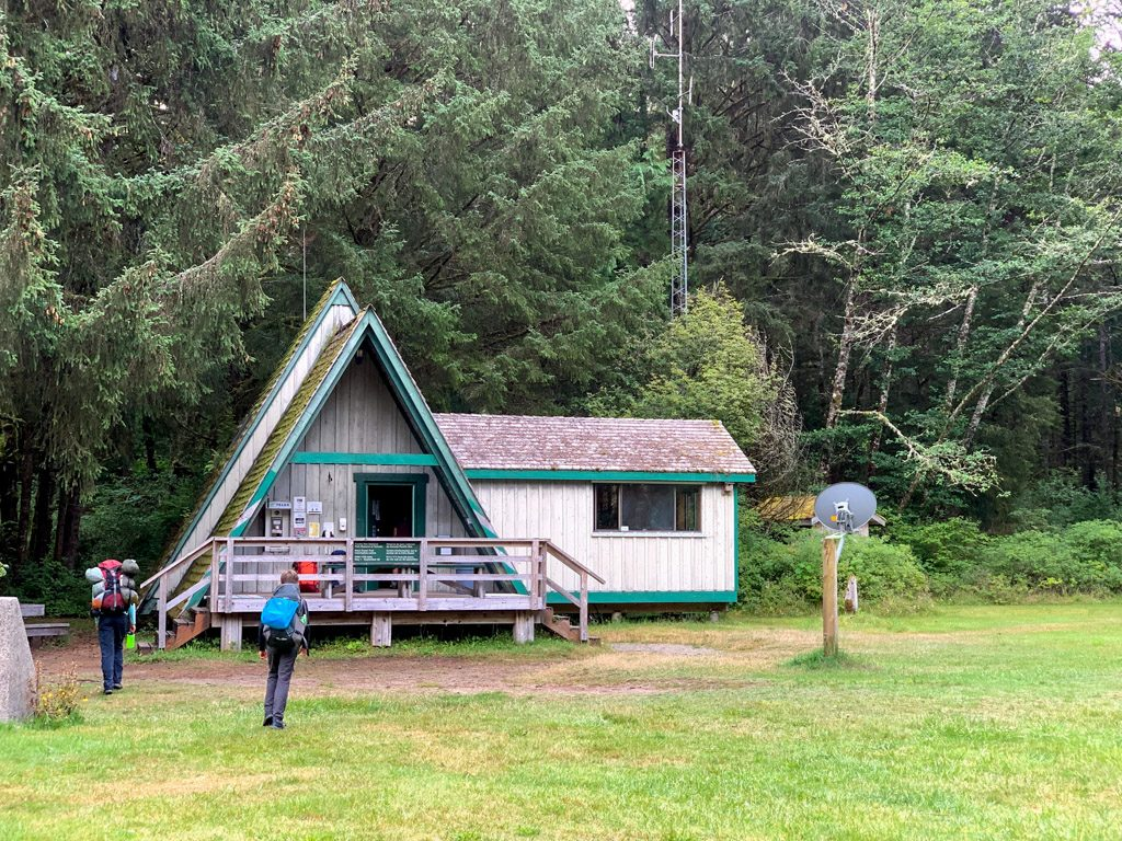 The Pachena Bay ranger station at the northern trailhead of the West Coast Trail