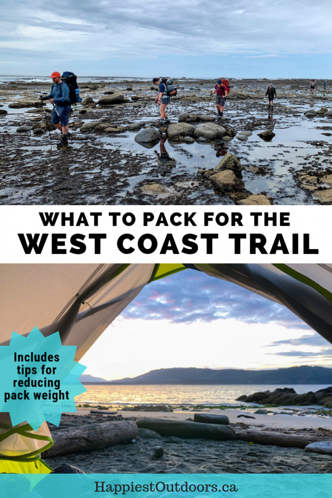 West Coast Trail packing list. What to pack for the West Coast Trail in Pacific Rim National Park, Canada. What to bring on the West Coast Trail in British Columbia. #WestCoastTrail #PackingList #hiking #Canada #BritishColumbia
