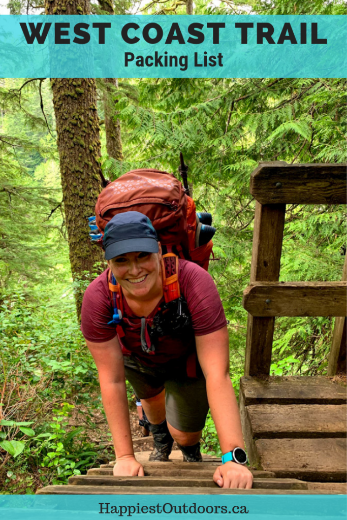 West Coast Trail Packing list: everything you need to bring. What to pack for the West Coast Trail in British Columbia, Canada. #WestCoastTrail #BC #Canada #hiking #packinglist