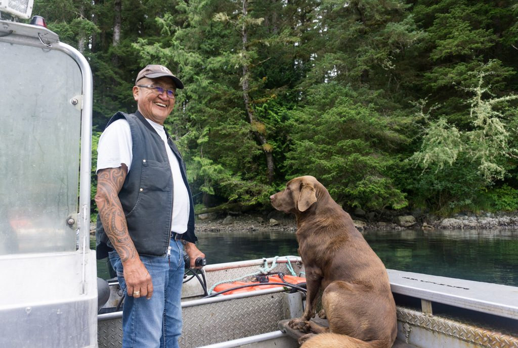 Carl Edgar, the ferry operator at Nitinat Narrows on the West Coast Trail