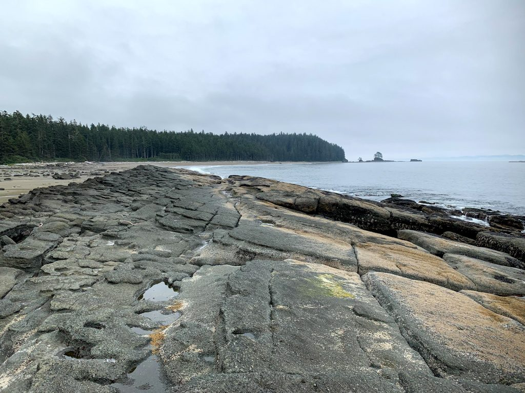 A rock formation at Cribs Creek on the West Coast Trail