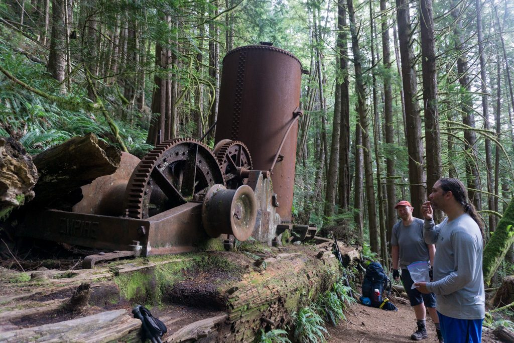 The donkey engine on the southern part of the West Coast Trail