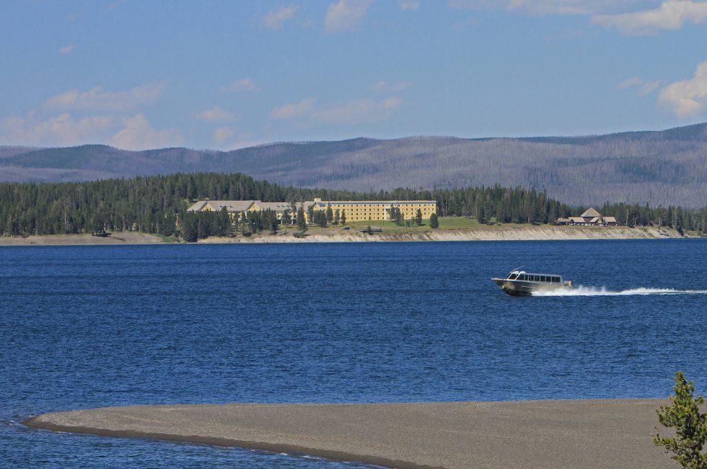 Boat tour on Yellowstone Lake