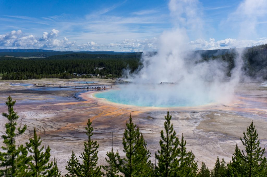 Grand Prismatic Spring, one of the best things to do in Yellowstone National Park