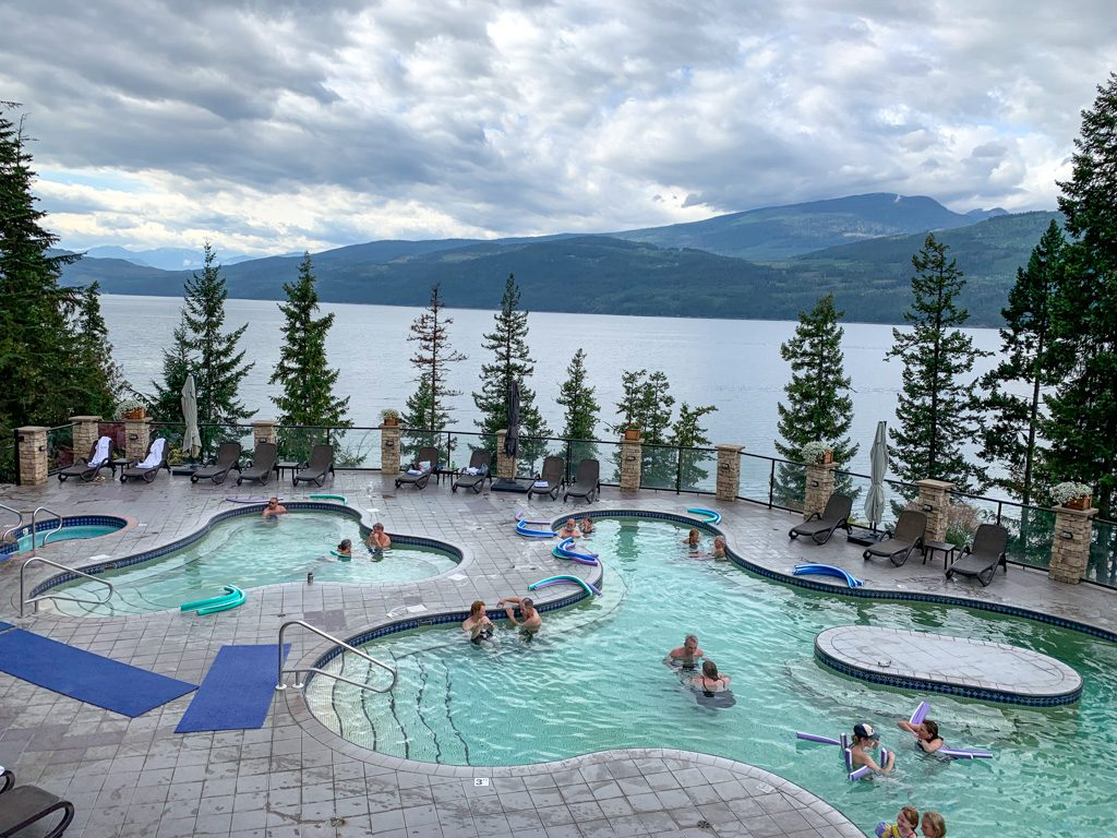 Halcyon Hot Springs near Revelstoke, BC