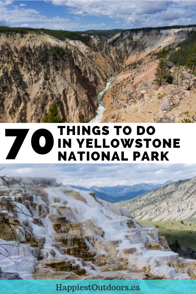 70 Things to do in Yellowstone National Park. A big list of everything you can do and see in Yellowstone including geysers, hot springs, hiking, wildlife, boating, museums and more. #YellowstoneNationalPark #Yellowstone #Wyoming #NationalParks
