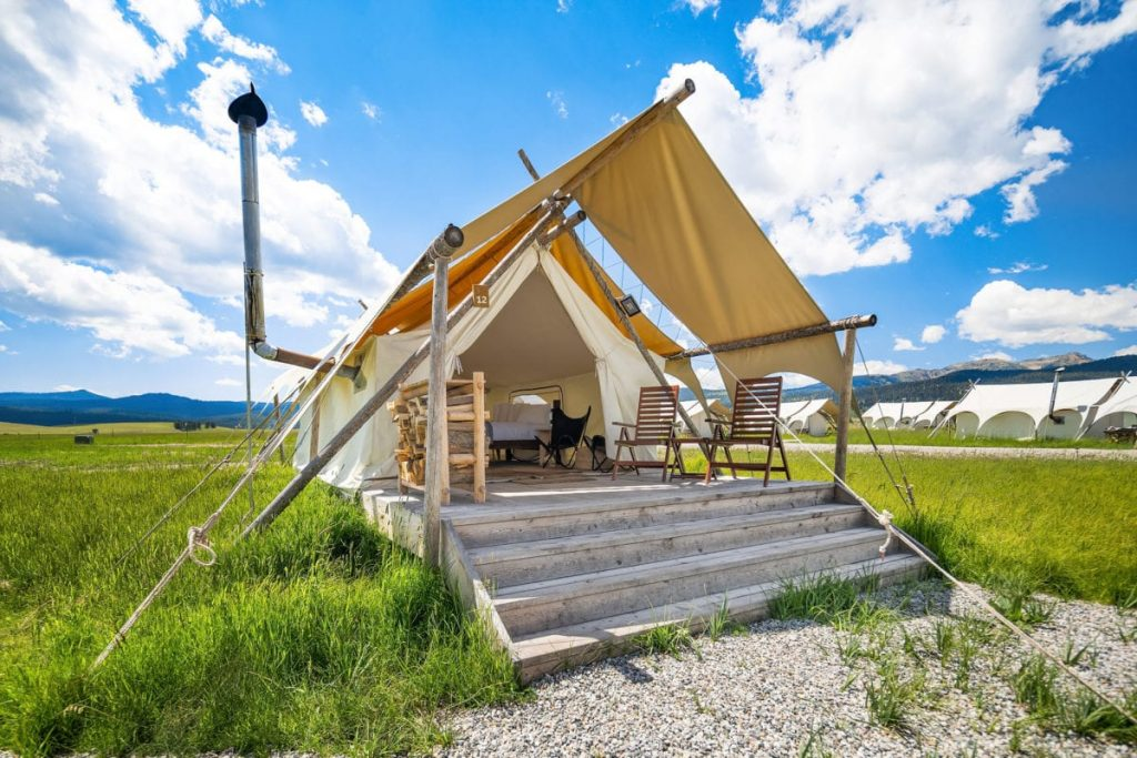 Tent at Under Canvas Yellowstone