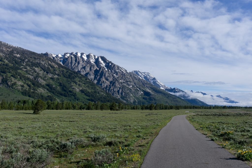 The multi-use pathway in Grand Teton National Park