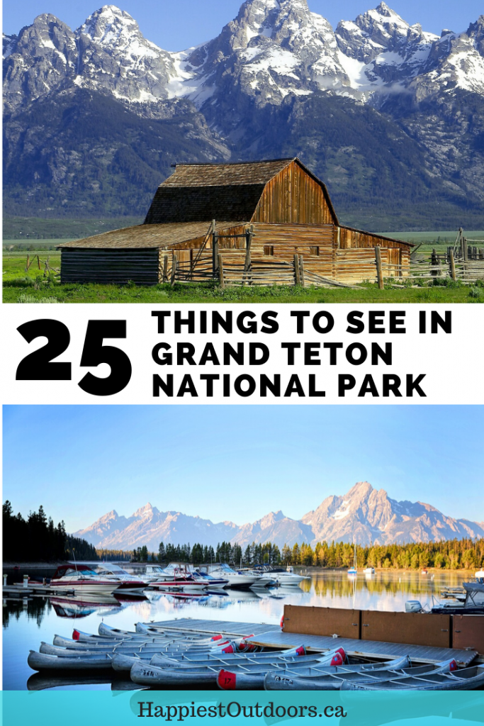 25 Things to see in Grand Teton National Park. Things to do in Grand Teton. Grand Teton sightseeing. What to see in Grand Teton. #GrandTeton #GrandTetonNationalPark