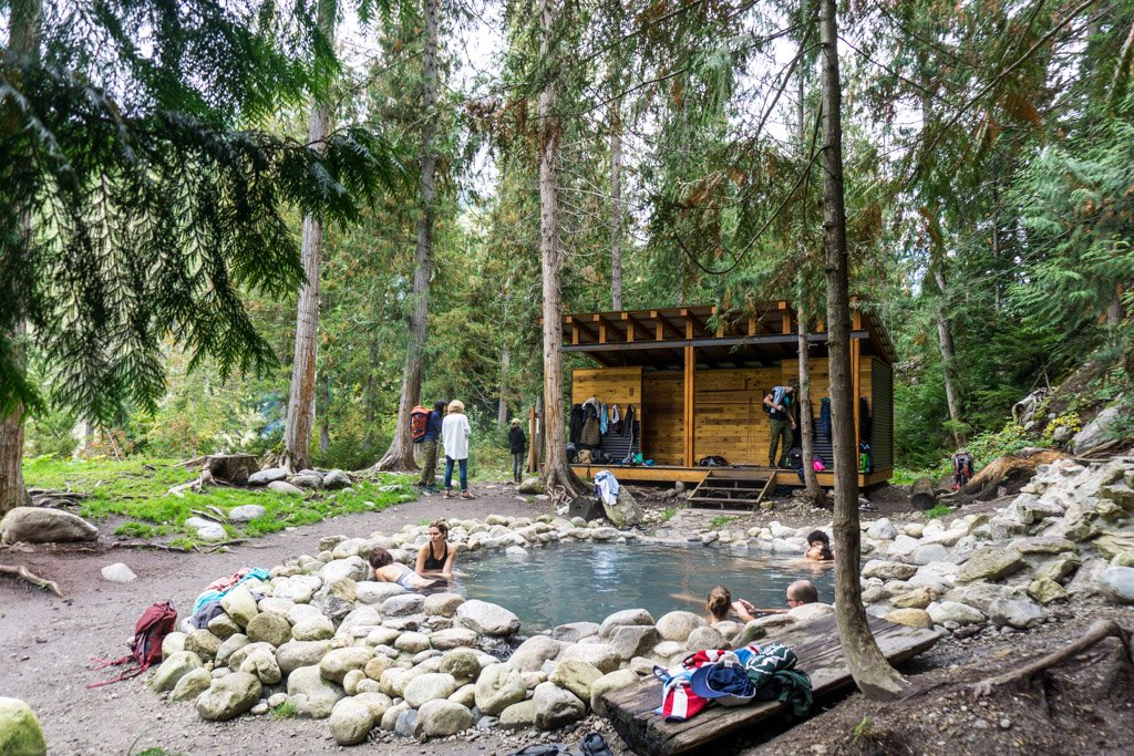 Halfway River Hot Spring in British Columbia, one of Canada's best hot springs.