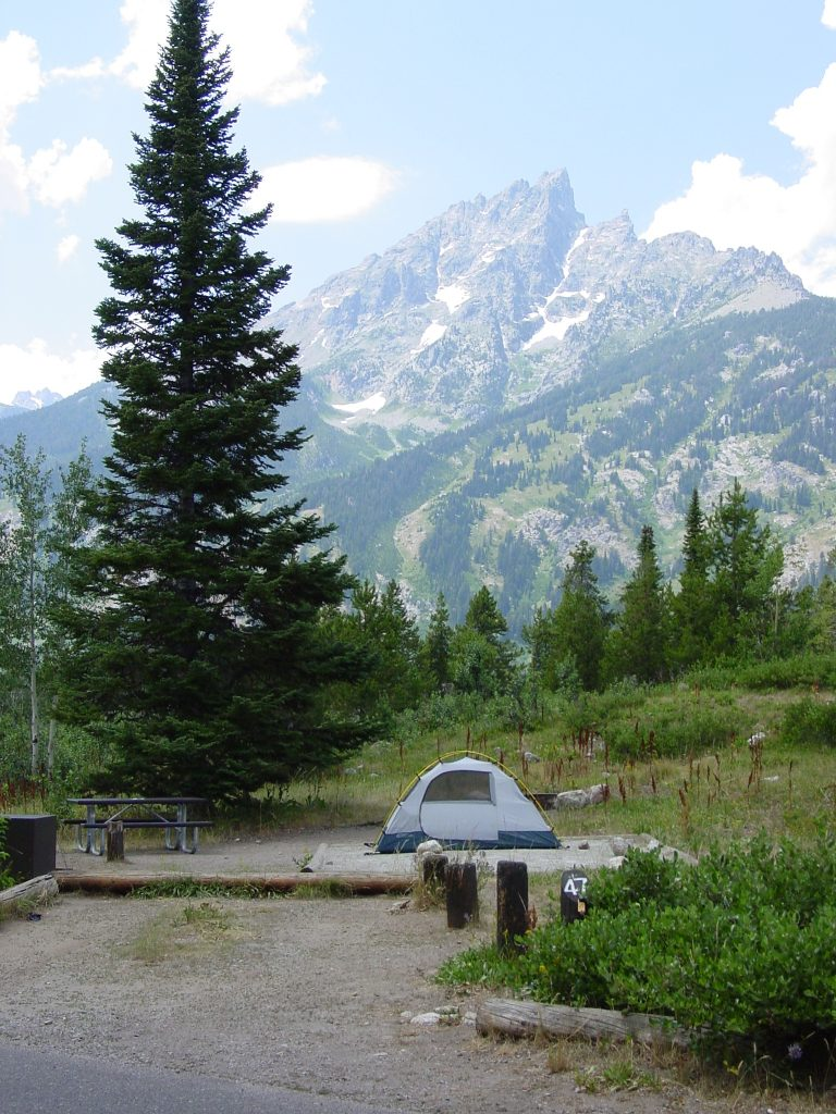 Jenny Lake Campground in Grand Teton National Park