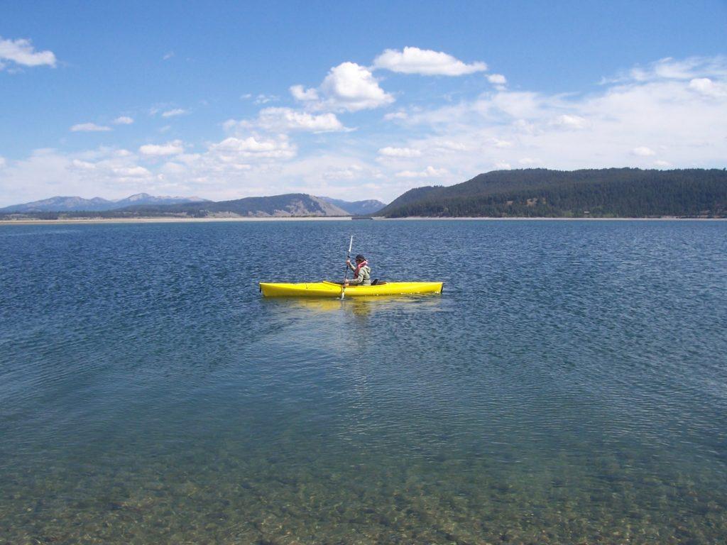 Kayaking on Jackson Lake in Grand Teton National Park
