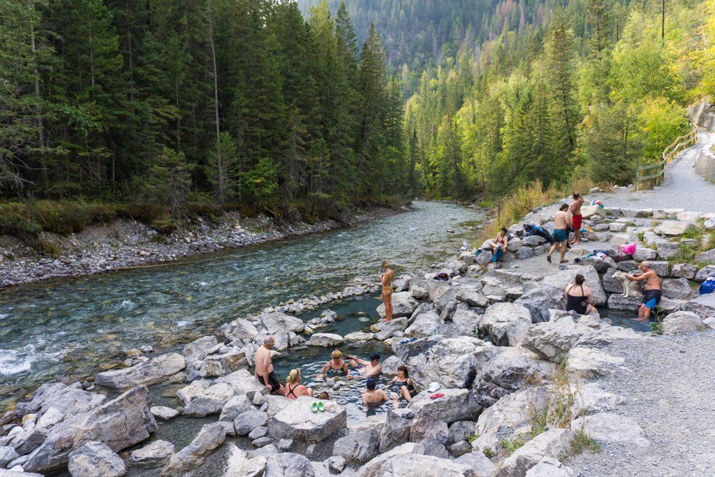 Lussier Hot Springs in Whiteswan Lake Provincial Park in BC