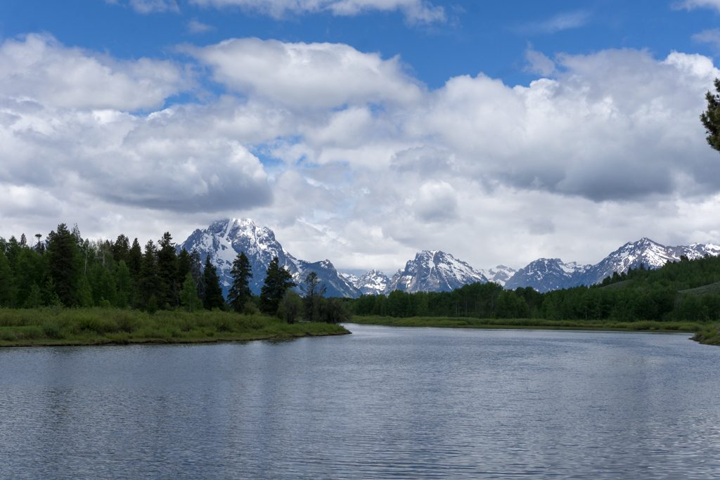 The view at Oxbow Bend Turnout in Grand Teton National Park