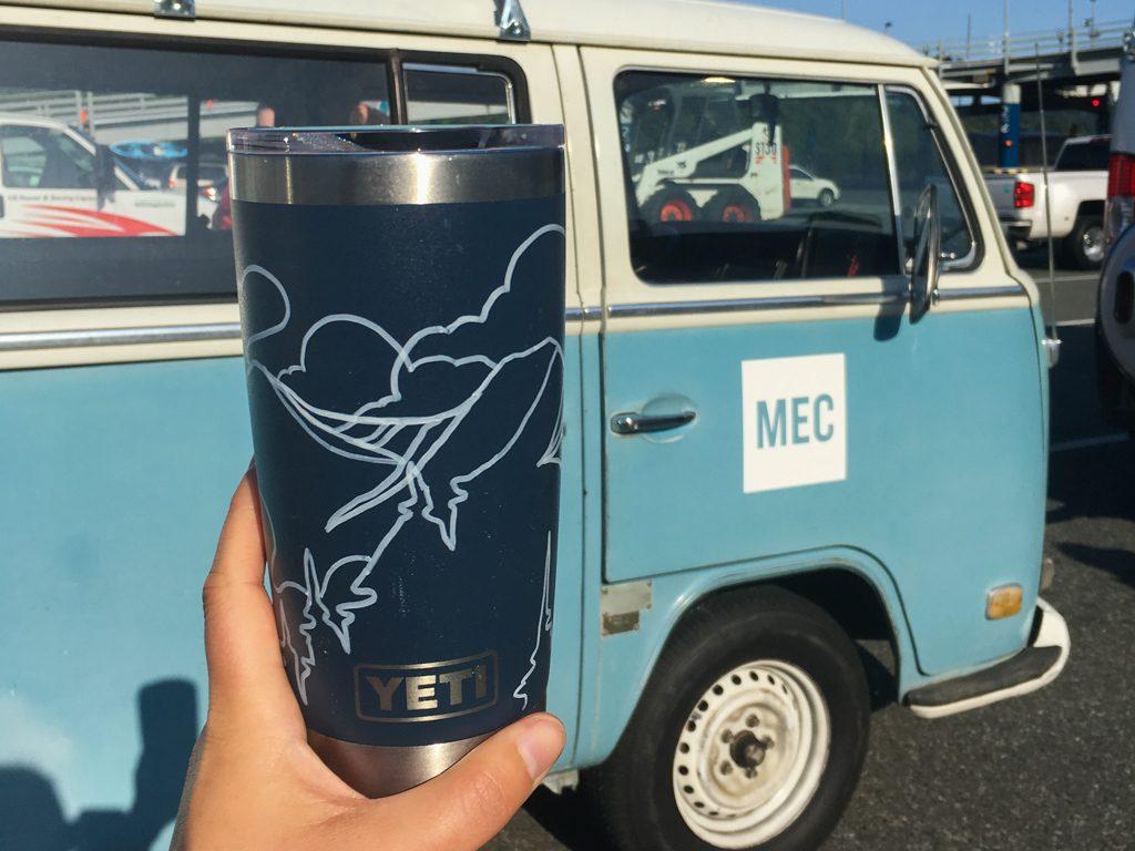 YETI Rambler tumbler mug with custom art work