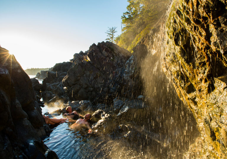 Hot Springs Cove on Vancouver Island near Tofino, BC