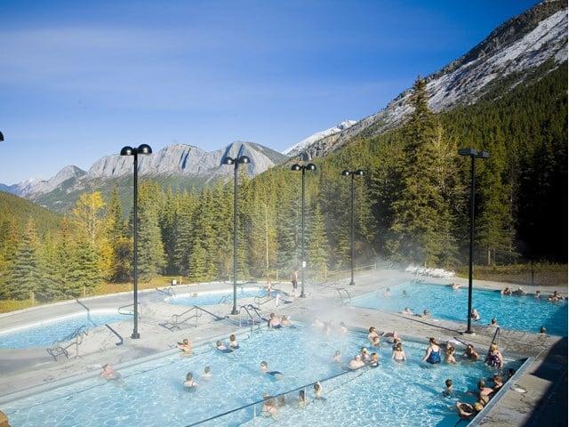 Miette Hot Springs in Jasper National Park, Alberta, Canada