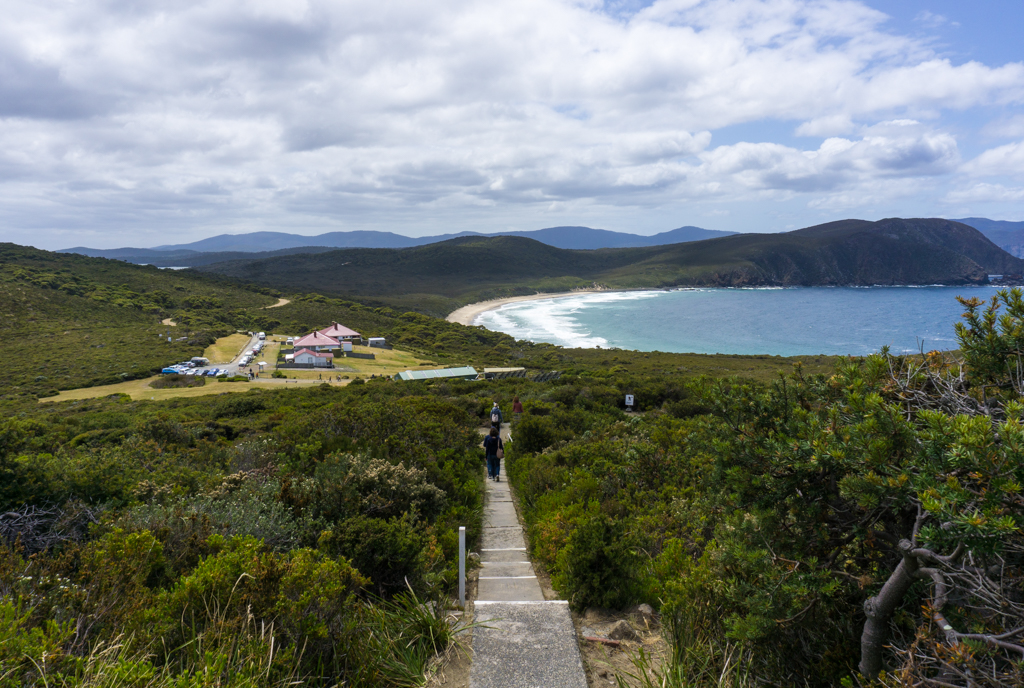 The view of Lighthouse Beach from Cape Bruny Lighthouse