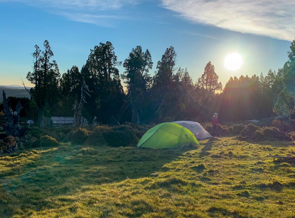 Camping at Dixon's Kingdom in Tasmania