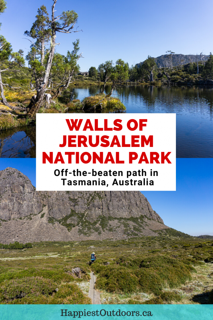Hiking and camping in Walls of Jerusalem National Park in Tasmania, Australia
