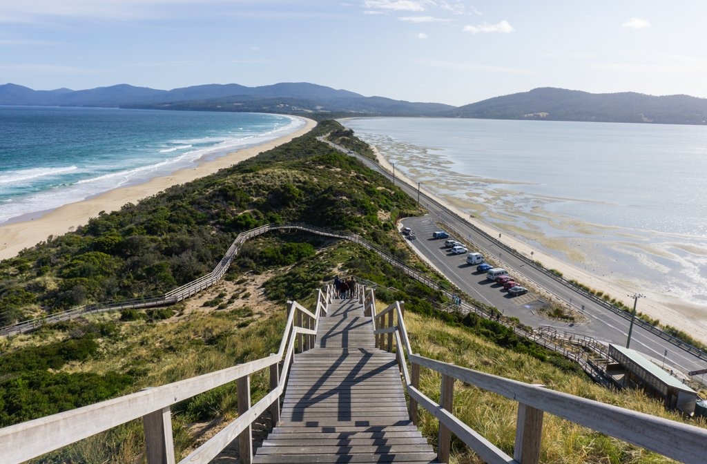 The Neck viewpoint on Bruny Island, Tasmania