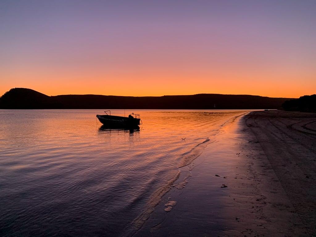 Sunset at Macquarie Heads near Strahan