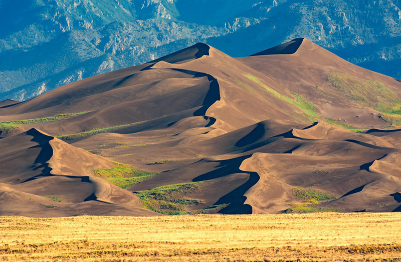 Star Dune after a rain in Great Sand Dunes National Park in Colorado - an under-the-radar US National Park