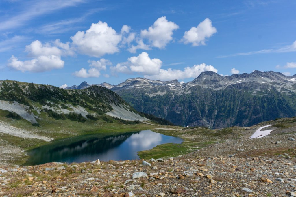 Russet Lake on the Singing Pass Trail in Whistler, BC
