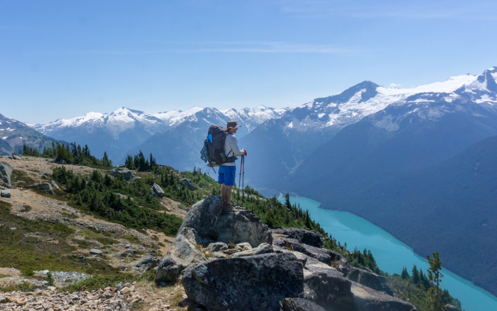 View of Cheakamus Lake from the High Note Trail in Whistler, BC. One of the best hikes in Whistler