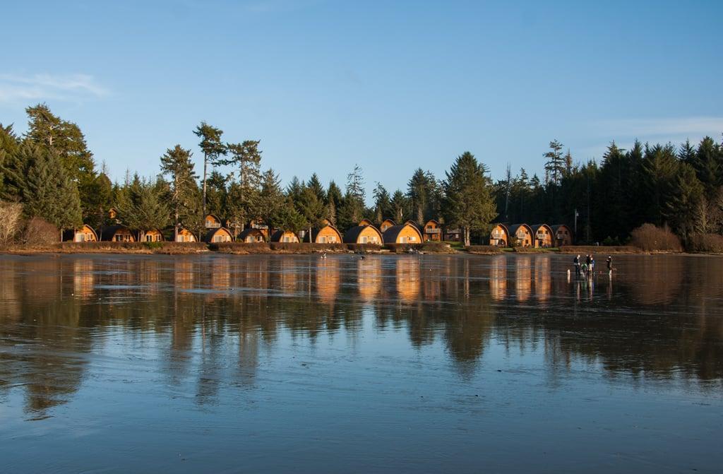 Cabins at Ocean Village on MacKenzie Beach in Tofino