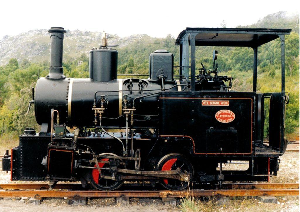 Wee Georgie Wood steam locomotive in Tullah, Tasmania