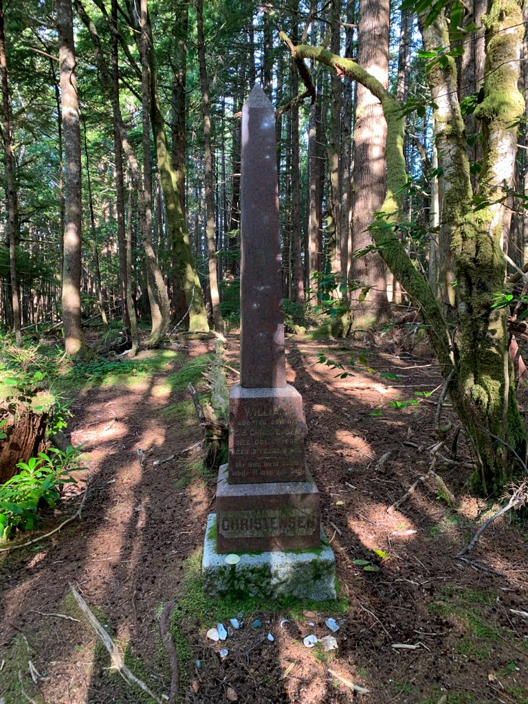 A grave from the Danish settler days at Cape Scott