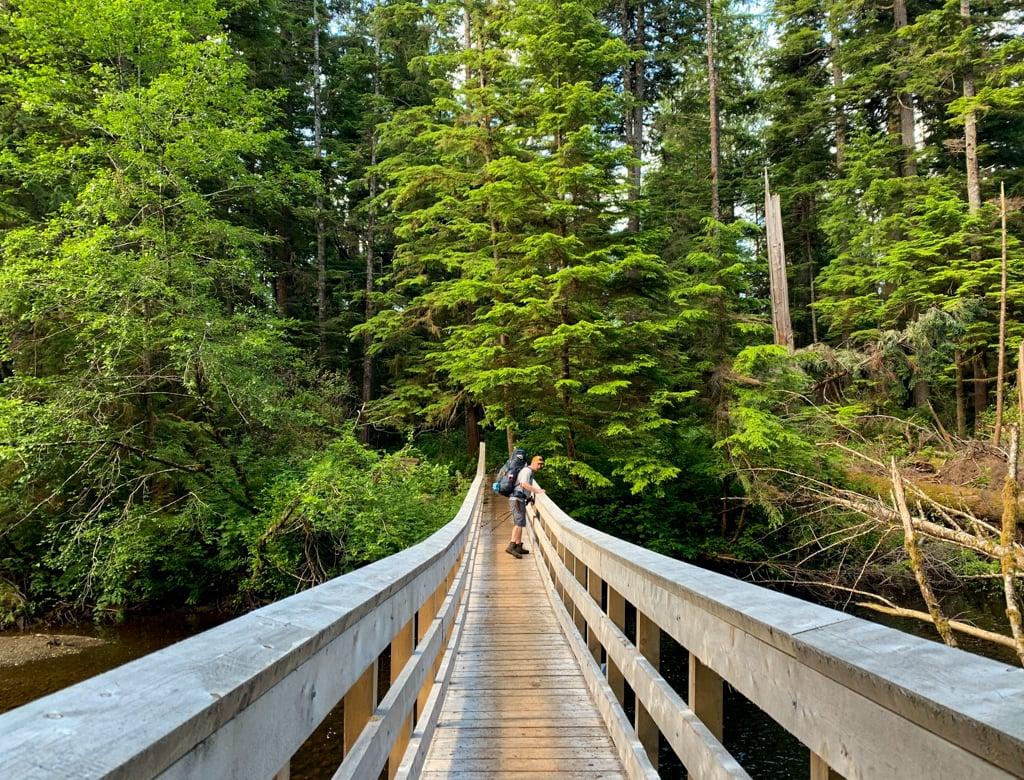 Bridge over the Fisherman River in Cape Scott Provincial Park